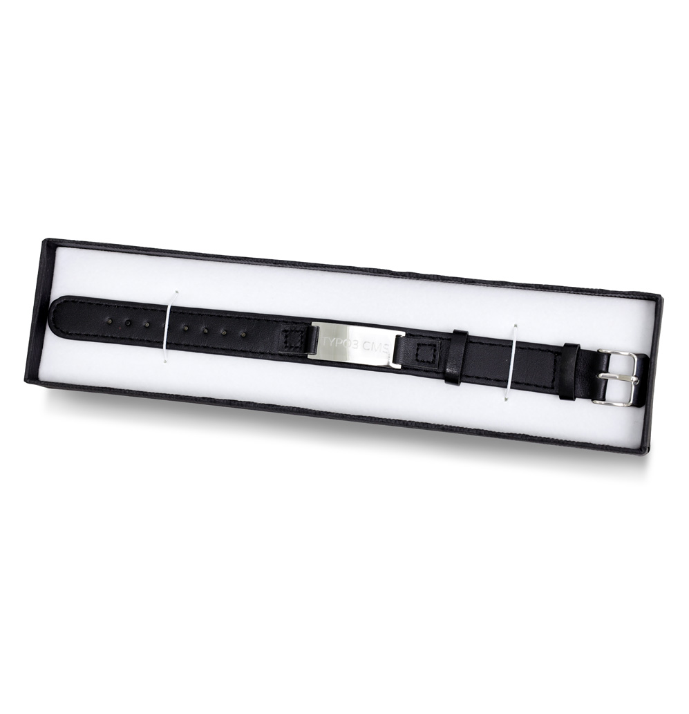 TYPO3 Leather Bracelet (black)