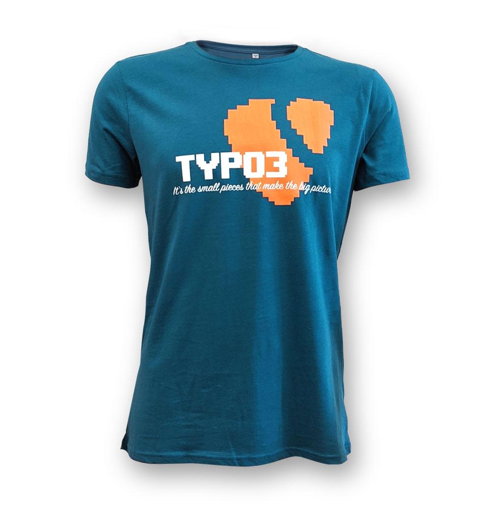 "TYPO3 Unisex T-Shirt ""Pixel"" (Petrol)"