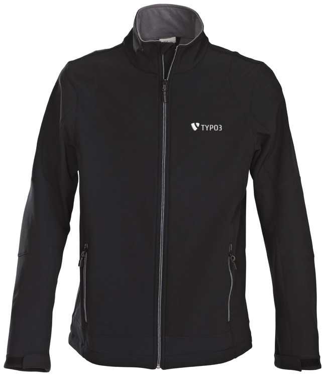 "TYPO3 Men's Softshell Jacket ""Inspiring people to share"""