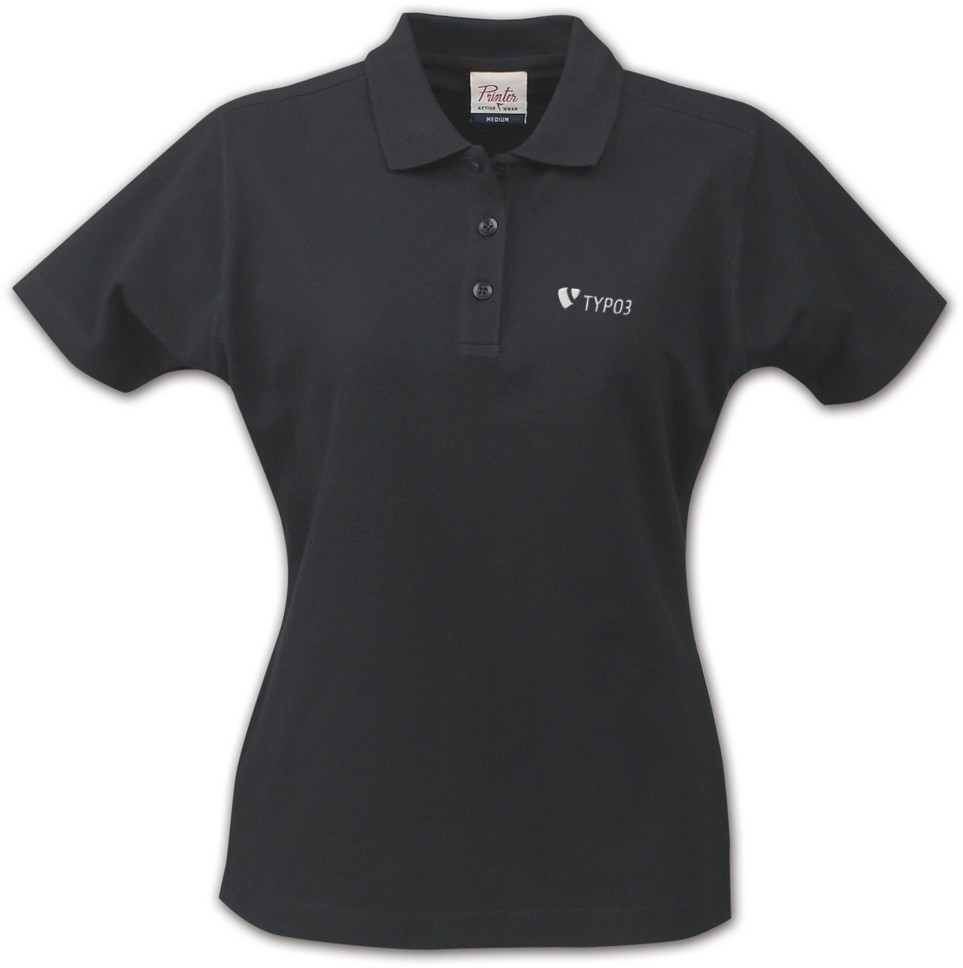 "TYPO3 Ladies Polo Shirt ""inspiring people to share"""