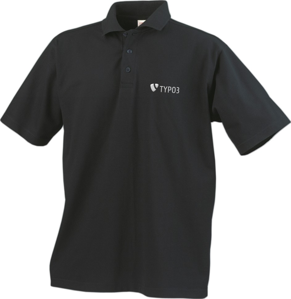 "TYPO3 Men's Polo Shirt ""inspiring people to share"""