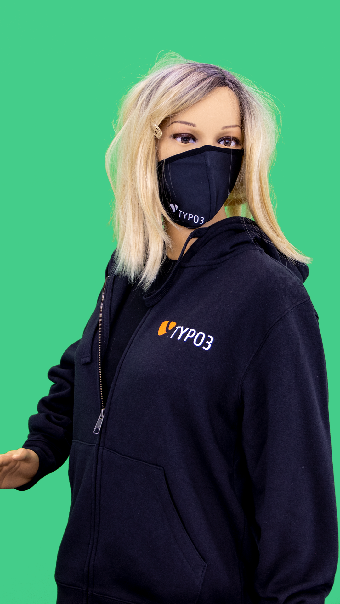 "TYPO3 Unisex Zipped Hoodie ""Established 1998"" (LE2016)"