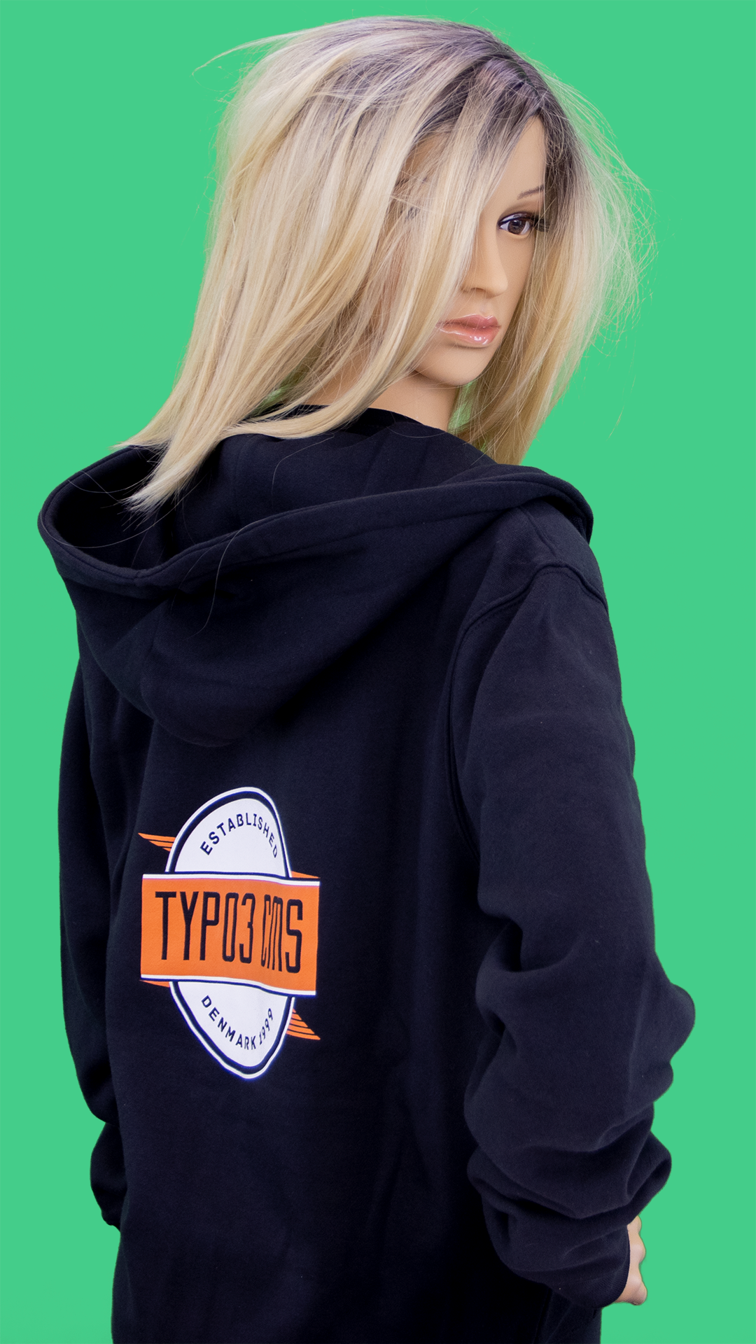 "TYPO3 Unisex Zipped Hoodie ""Established 1999"" (LE2016)"