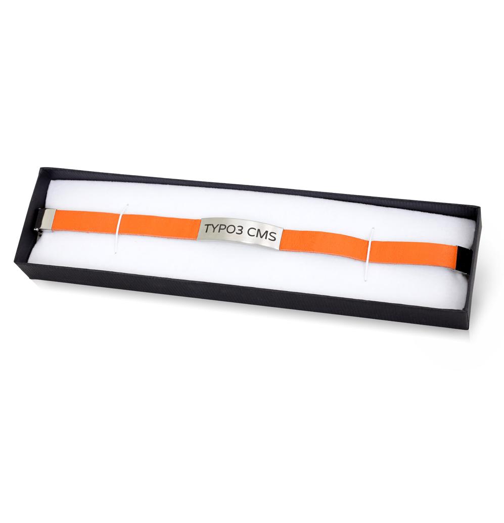 TYPO3 Leather Bracelet (orange)